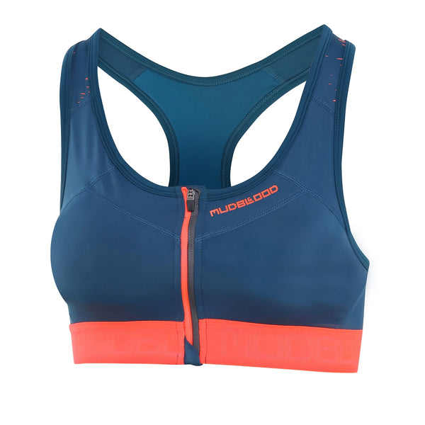 Womens Zip Front Sports Bra