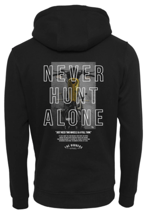 "THE BOBBERS Hoodie ""NEVER HUNT ALONE BIKE"" - The Bobbers GbR"