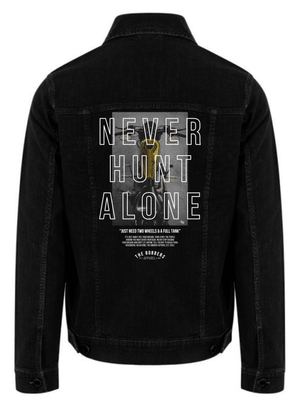 "THE BOBBERS Jeansjacke ""NEVER HUNT ALONE BIKE"" - The Bobbers GbR"