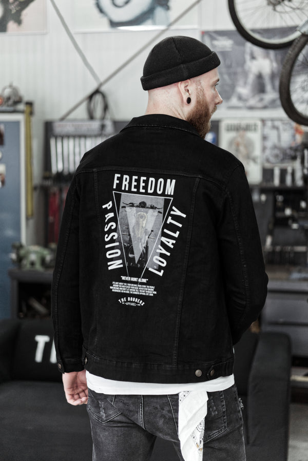 "THE BOBBERS Jeansjacke ""ATTITUDE OF LIFE"" - The Bobbers GbR"