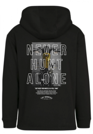 "THE BOBBERS Sweat Pullover ""NEVER HUNT ALONE BIKE"" - The Bobbers GbR"
