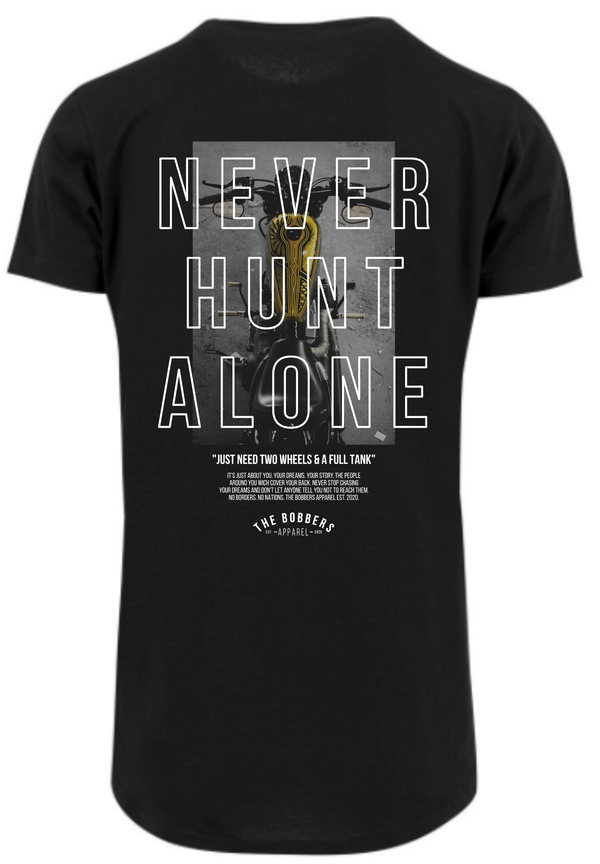 "THE BOBBERS T-Shirt long ""NEVER HUNT ALONE BIKE"" - The Bobbers GbR"