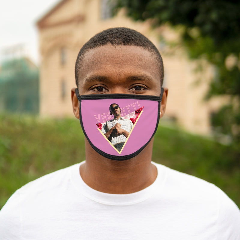 Vercetti Mixed-Fabric Face Mask