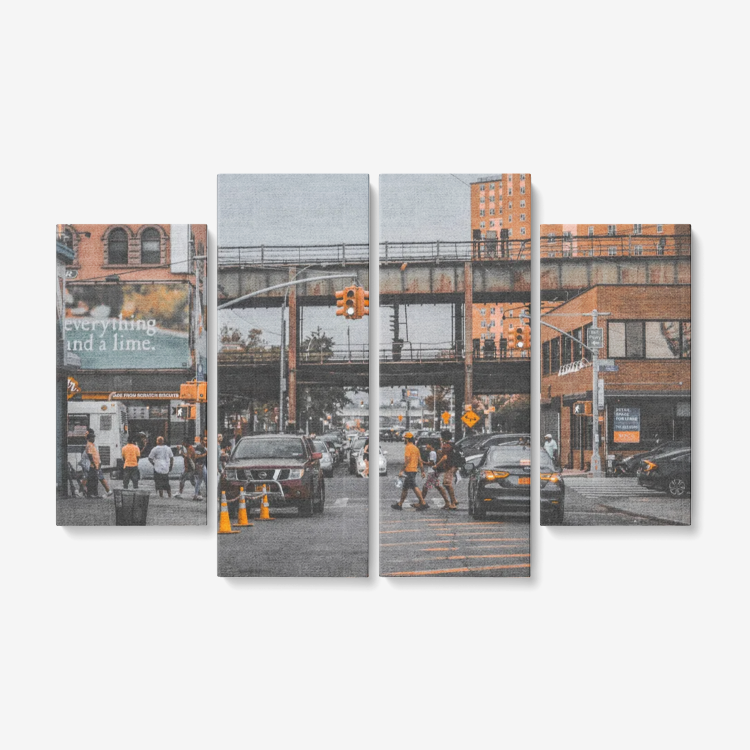 4 Piece New York Canvas