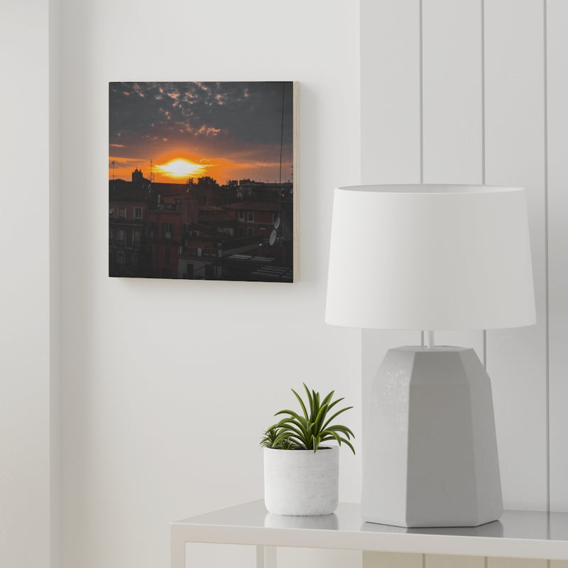 Sky On Fire Wooden Canvas