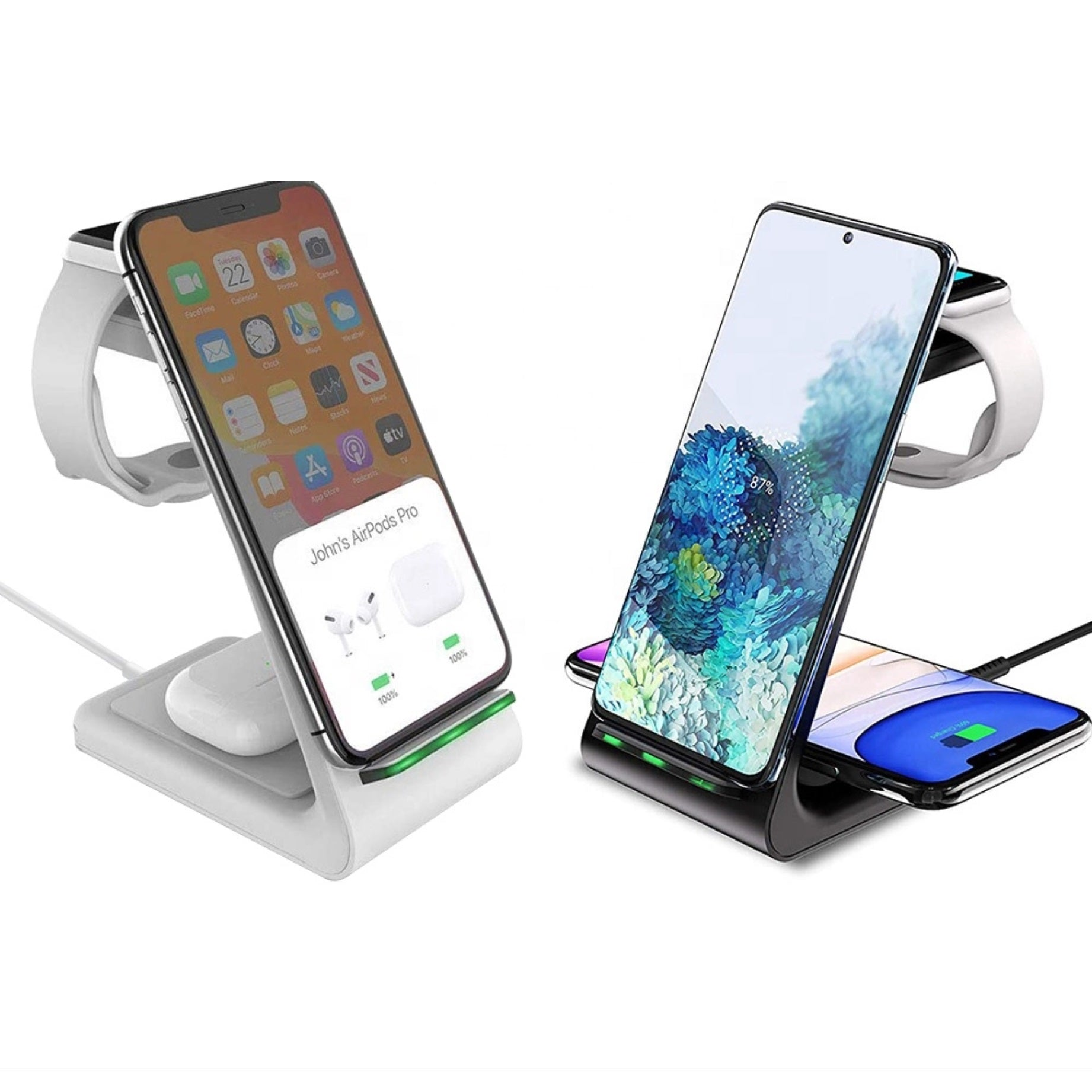 DockSmart Pro 3-In-1 Wireless Charging Station - For Apple and Samsung