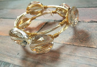 Clear Glass Crystal Bangle