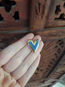 'Something Blue' - Wedgewood Blue and Gold Heart Necklace