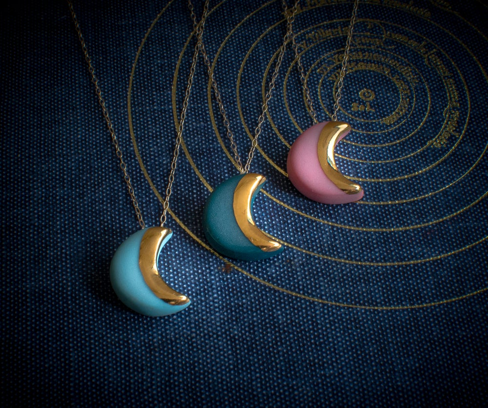 Crescent Moon Earrings (more colours)