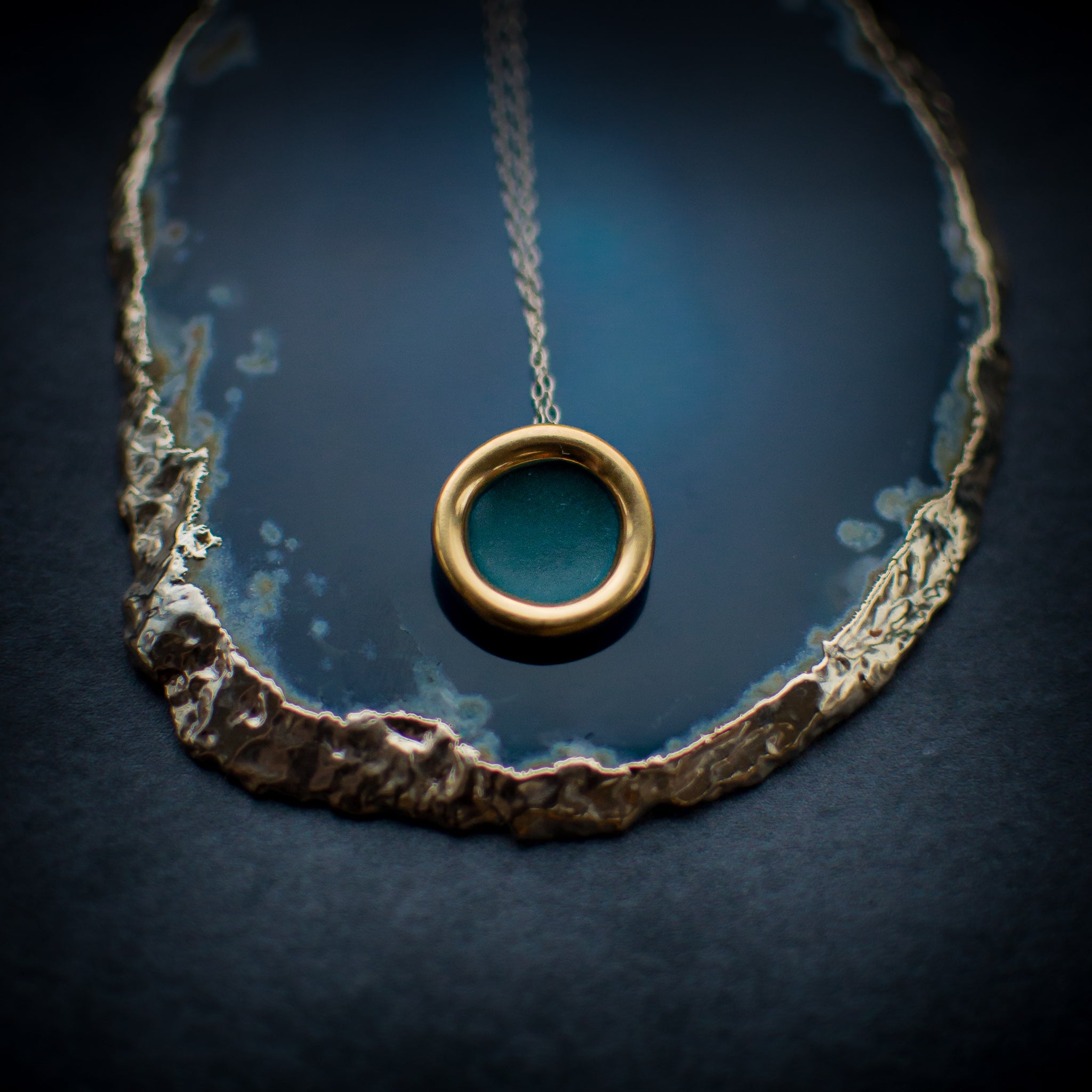 Teal Halo Necklace