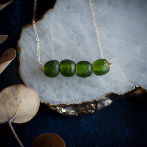 Deep Forest Green Krobo Beads