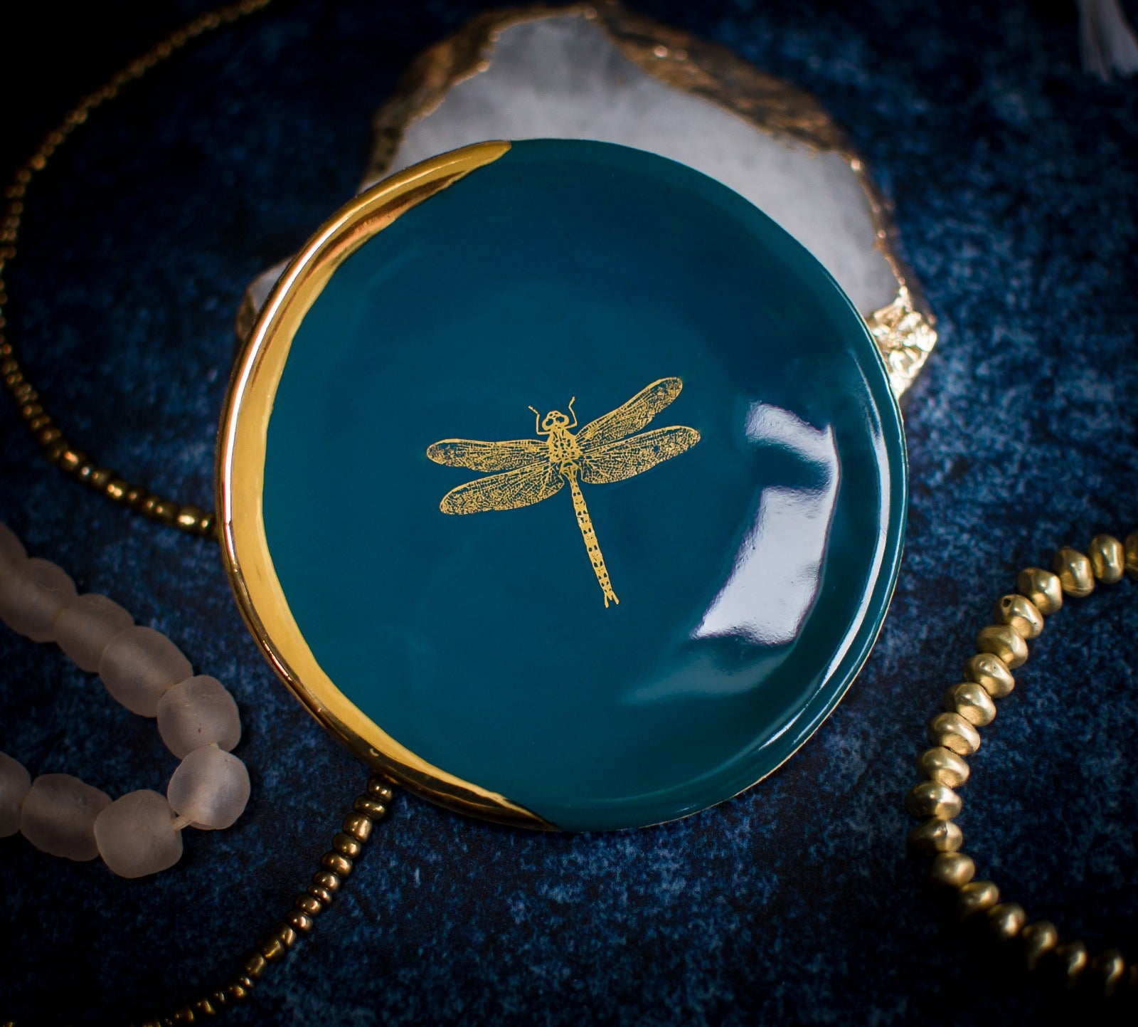 Dragonfly Ring Dish in Teal