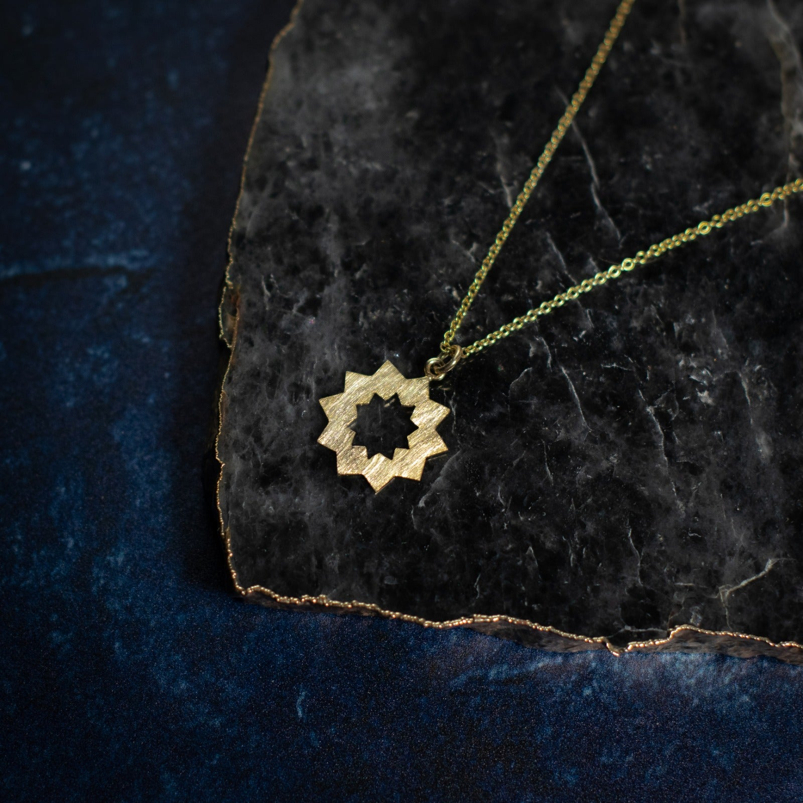 Sun Necklace in Gold Vermeil on BACKORDER