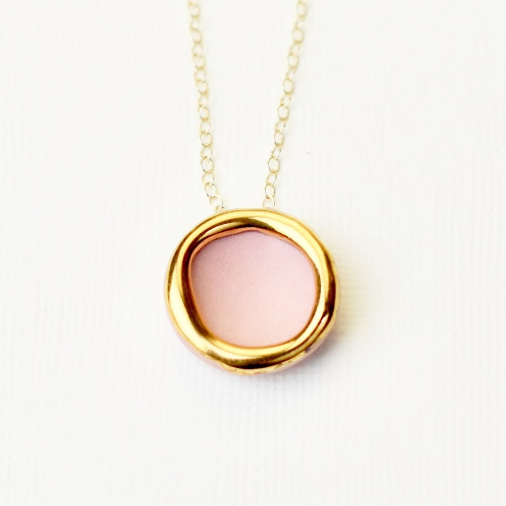 Pink Halo Necklace