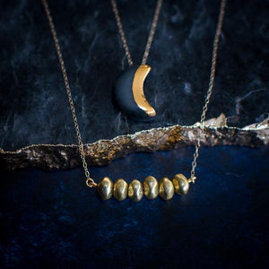 Small Crescent Moon Necklace (more colours)