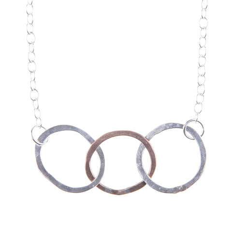 Beaten Path 3 Ring Necklace