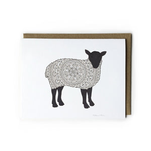 Sheep Mandala Card