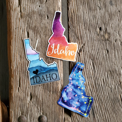 3 pack of MINI Idaho stickers