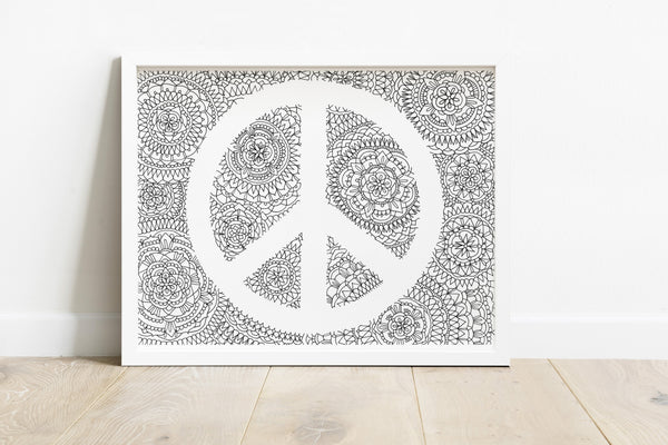 Peace Sign Mandala