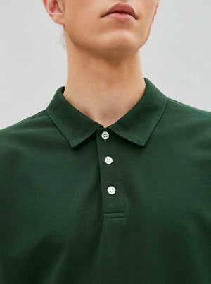 Load image into Gallery viewer, Organic Polo Tee in Forest