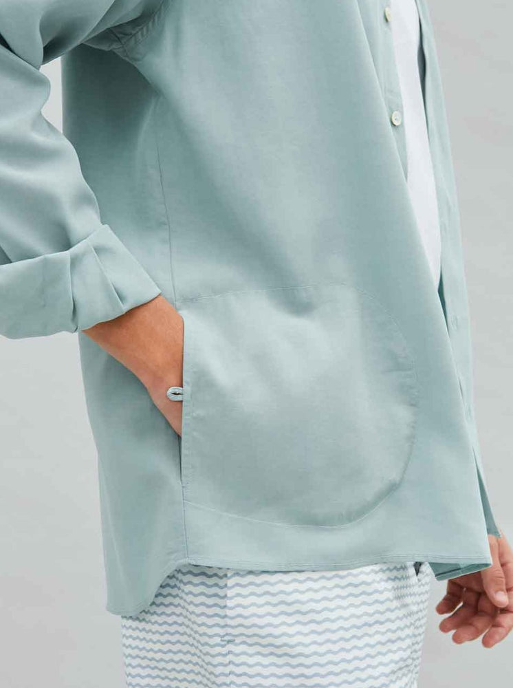 Load image into Gallery viewer, Tencel Pocket Shirt in Mint