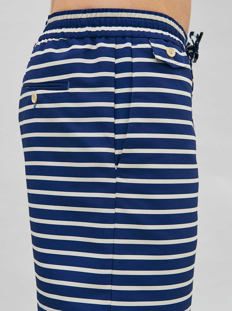 Drawstring Deck Shorts in Breton Stripe