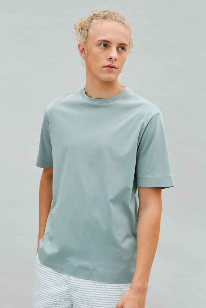 Organic Relaxed Tee in Sea