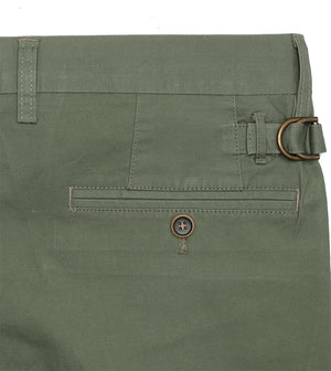 Load image into Gallery viewer, Matsuda Washed Chino In Olive Back