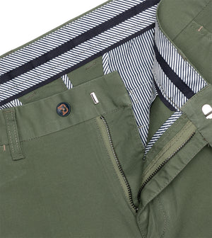Load image into Gallery viewer, Matsuda Washed Chino In Olive Zip