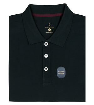 Load image into Gallery viewer, Forest Polo Tee Folded
