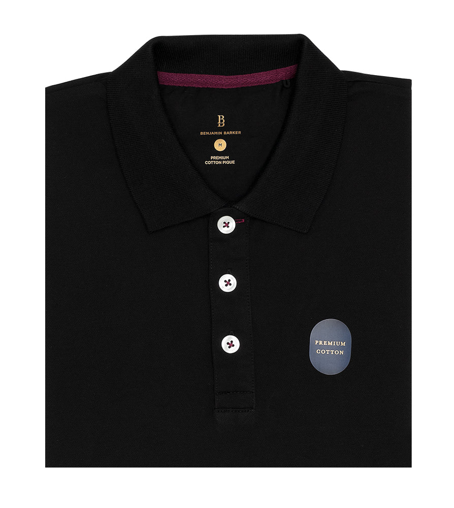 Black Polo Tee Folded