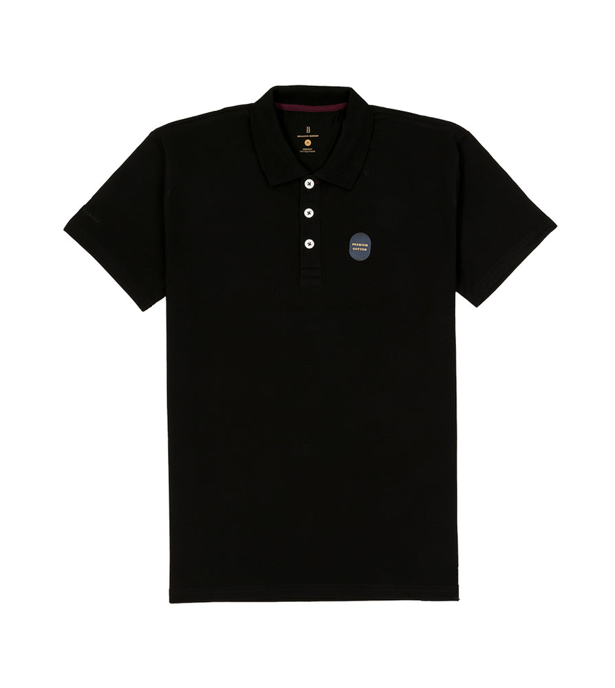 Black Polo Tee Full