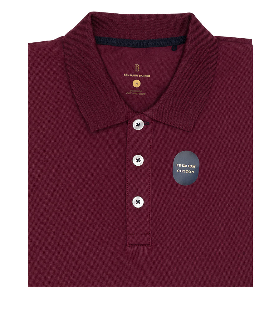 Maroon Polo Tee Folded