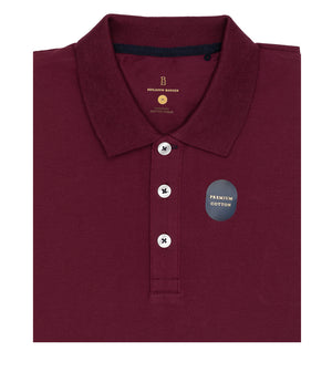 Load image into Gallery viewer, Maroon Polo Tee Folded