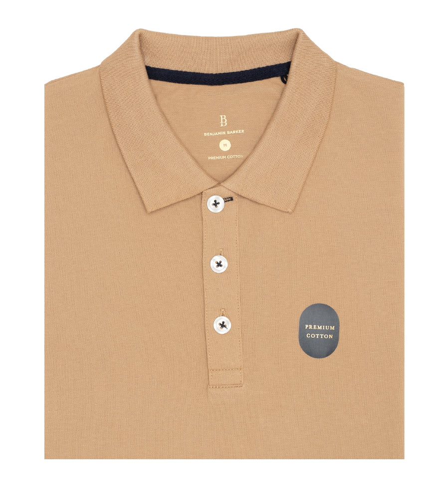 Khaki Polo Tee Folded