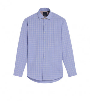 Load image into Gallery viewer, Motoji Easy Iron Glen Plaid Shirt Full