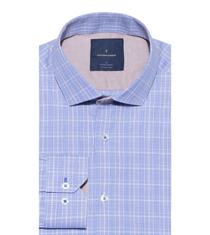 Load image into Gallery viewer, Motoji Easy Iron Glen Plaid Shirt Folded