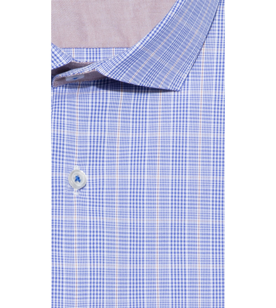 Load image into Gallery viewer, Motoji Easy Iron Glen Plaid Shirt Collar