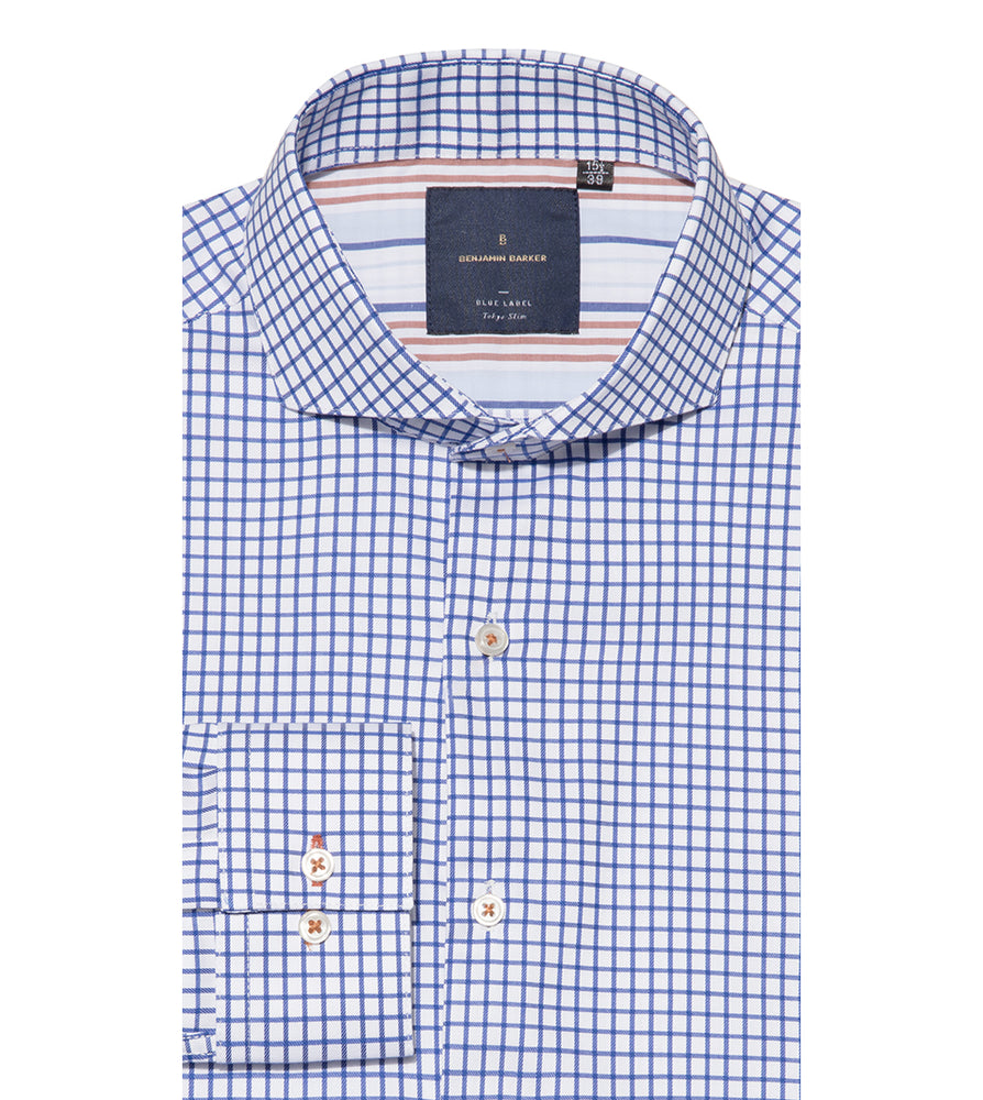 Futako Easy Iron Check Shirt Folded