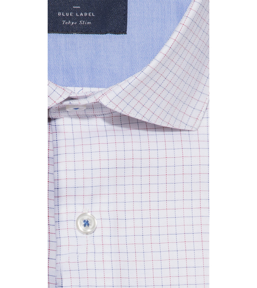 Ishi Easy Iron Graph Check Shirt Collar