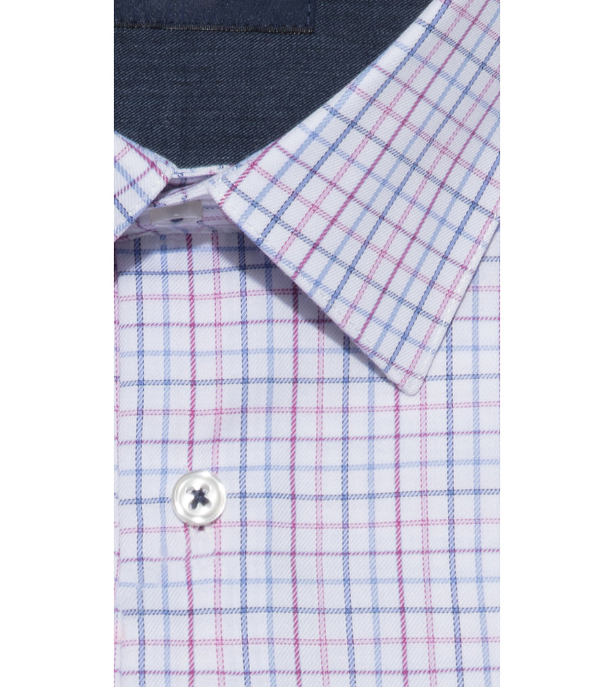 Tashikawa Easy Iron Plaid Shirt Collar