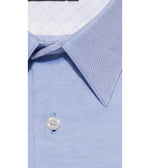 Hirano Skyblue Easy Iron Shirt Collar