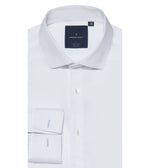 Fumiya Easy Iron Textured White Shirt Folded