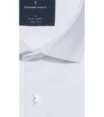 Fumiya Easy Iron Textured White Shirt Collar
