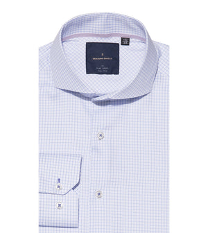 Load image into Gallery viewer, Konishi Easy Iron Graph Check Shirt Folded