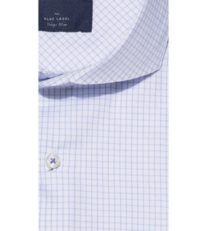 Load image into Gallery viewer, Konishi Easy Iron Graph Check Shirt Collar