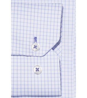 Load image into Gallery viewer, Konishi Easy Iron Graph Check Shirt Cuff
