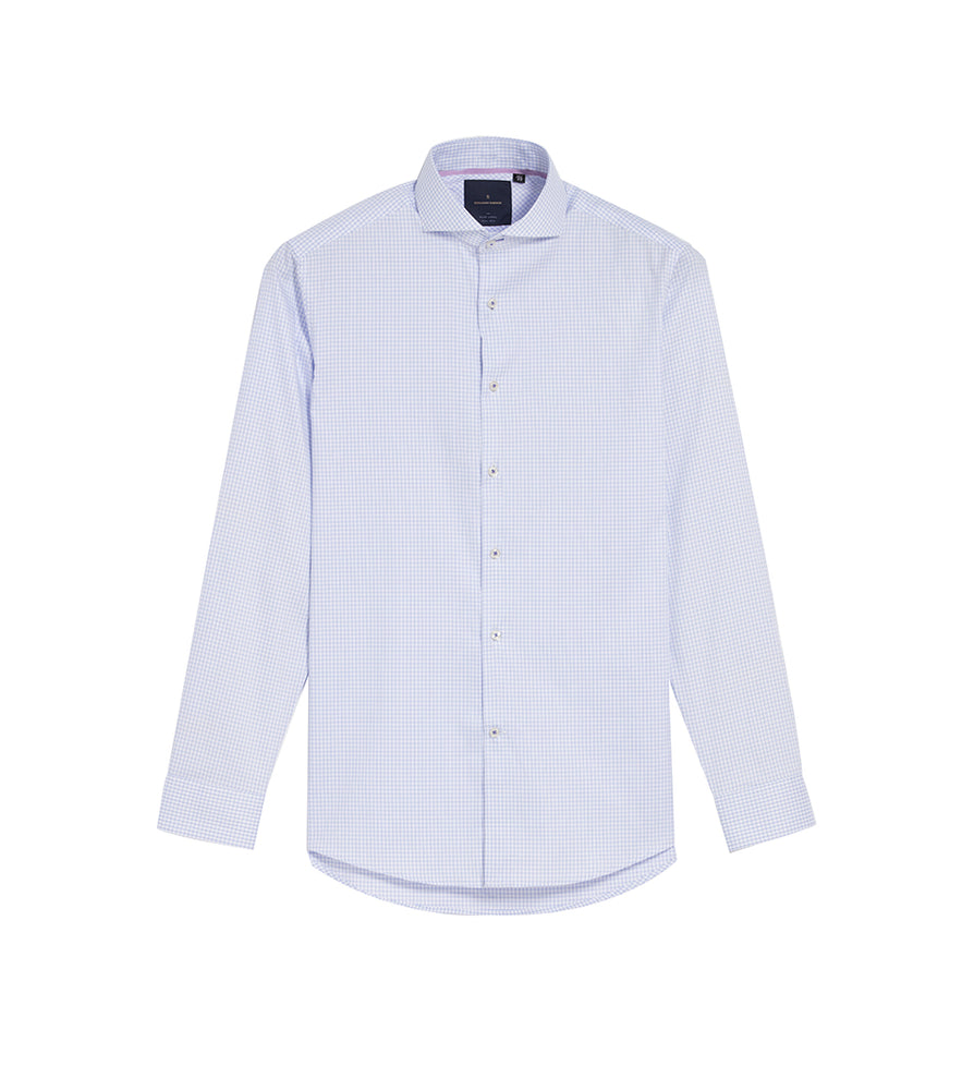 Load image into Gallery viewer, Konishi Easy Iron Graph Check Shirt Full