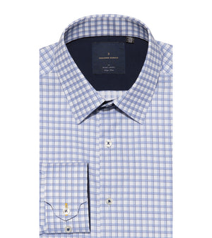 Load image into Gallery viewer, Yasai Easy Iron Check Shirt Folded