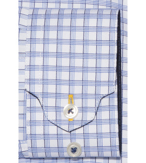 Load image into Gallery viewer, Yasai Easy Iron Check Shirt Folded Cuff